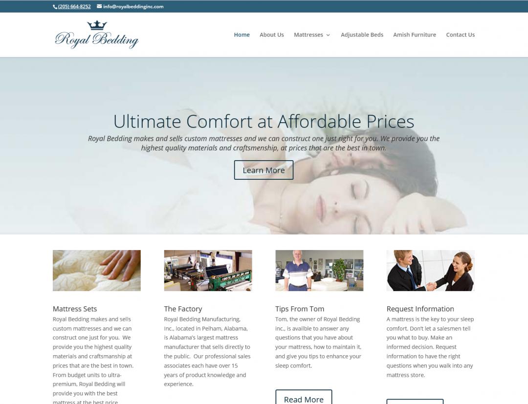 Royal Bedding Website